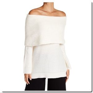 Sweaters - Off Shoulder Cowl Neck Sweater NWOT
